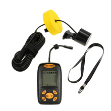 Lixada Wireless Fish Finder Sonar Fishfinder 100m Depth Range Ocean Lake Sea Fishing Transducer Fishfinder Fishing Bait Tool