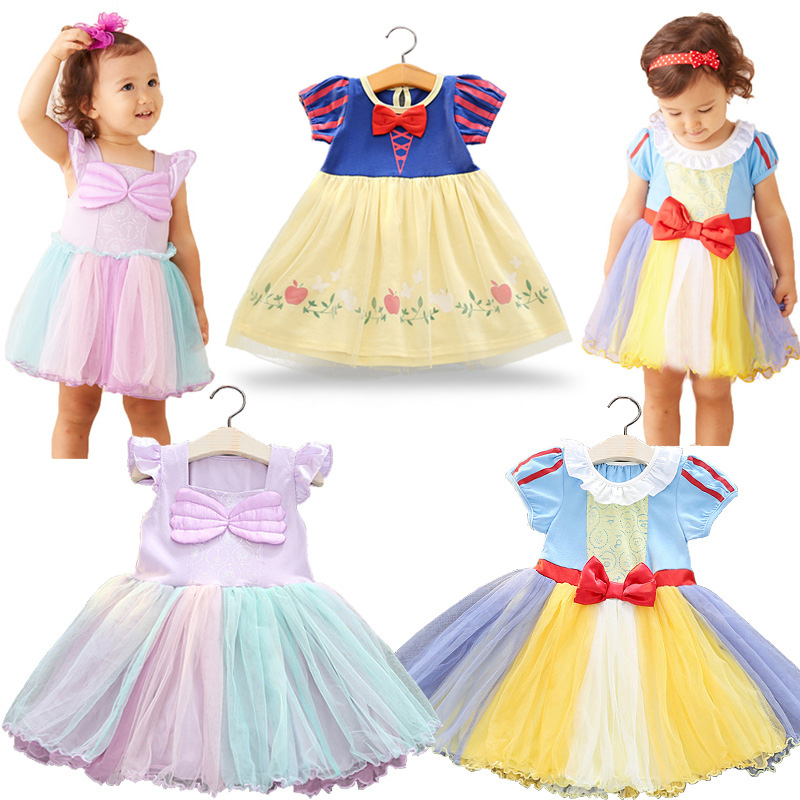 Children Clothing Baby Girl Dress Princess Snow White Cinderella Costume Girls Kids Birthday Party Bling Fancy Tutu Dress 2017 new girls dresses for party and wedding baby girl princess dress costume vestido children clothing black white 2t 3t 4t 5t