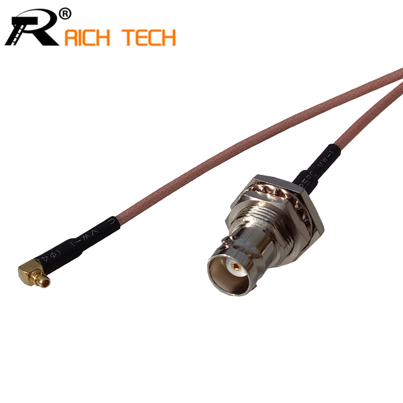 RF MMCX Male plug Switch BNC Female Jack adaptor RG316 coaxial cable linear Connector for neutrik bnc connector plug sdi pigtail camera rf coaxial cable cable length 20m canare soft video coaxial lv 61s