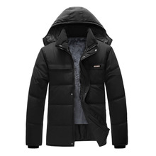 Winter Jacket Hoodies Men Zipper Male Coat Casual Thick Outwear Guy Fashion Stylish Clothing Down Parkas RAA0620