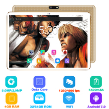 Original 10 inch tablet pc Android 7.0 RAM 4GB ROM 64GB Dual SIM card wifi Bluetooth 1280*800 IPS tablets pc free shipping 10.1