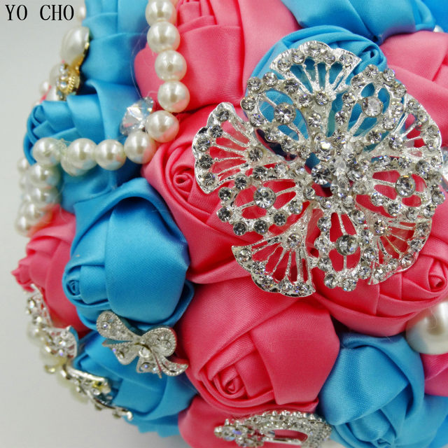 Online Shop Customized Turquoise Blue Coral Pink Artificial