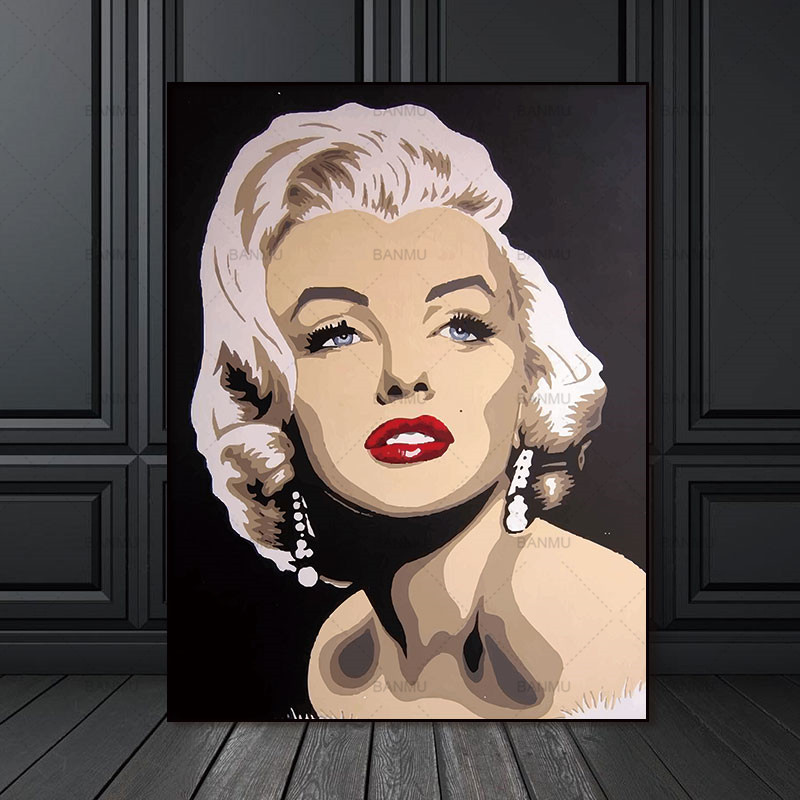 Wall Artwork Photos Canvas Portray house decor Wall poster ornament for front room prints Marilyn Monroe on canvas no body Portray & Calligraphy, Low cost Portray & Calligraphy, Wall...