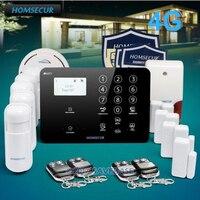 HOMSECUR Беспроводной 4 г/GSM SMS Автодозвон Главная охранной сигнализации Системы с Температура Сенсор