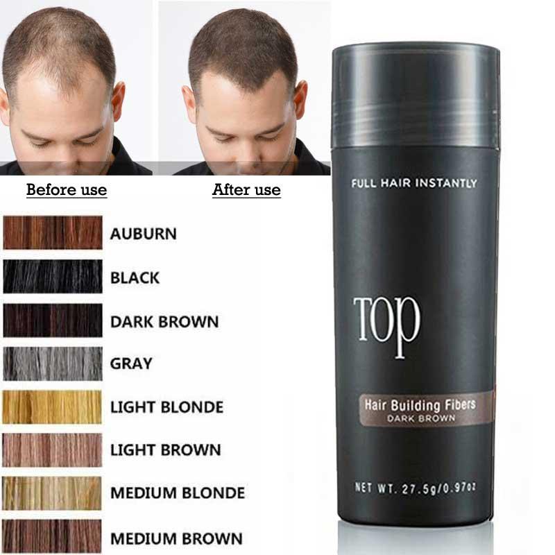 MOONBIFFY 27.5g Hair Building Fiber Keratin Styling Tonic Coloring Powder Hair Loss