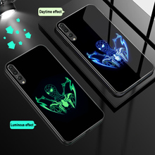 ciciber For Huawei P30 P20 Mate 20 Lite Pro Phone Cases for Honor 10 Luminous Tempered Glass Cover Marvel Batman Spider-Man