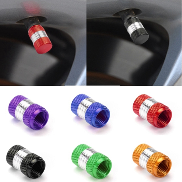 6 цветов 4 шт алюминиевый сплав автомобиль Грузовик круглый вентиль шины колеса колпак пылезащитный чехол черный/красный/желтый/зеленый/синий/фиолетовый
