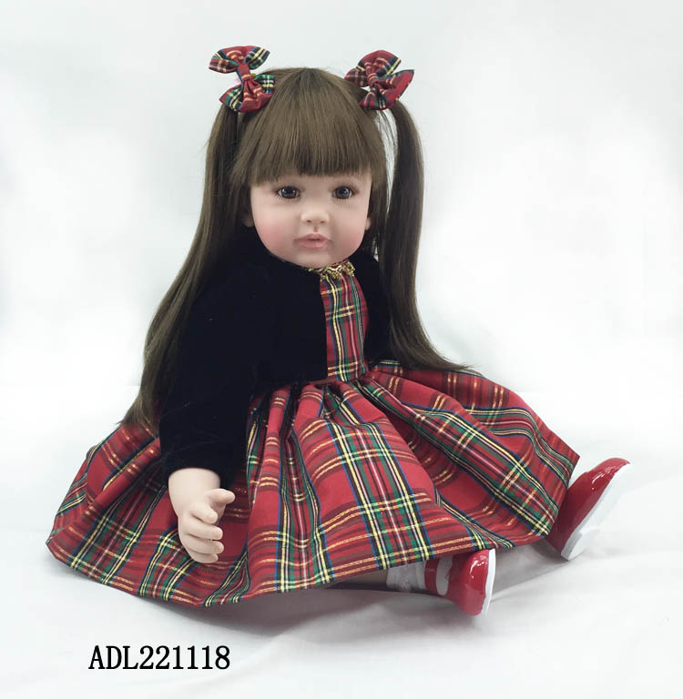 High-end 55cm handmade silicone reborn doll baby vinyl simulated baby doll toddler brinquedos christmas new year boutique gifts silicone reborn doll baby vinyl simulated baby doll princess doll toddler brinquedos birthday christmas new year boutique gifts