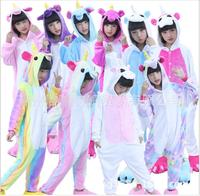 Christmas Adult Rainbow Unicorn Animal Pajamas Flannel Totoro Panda Stitch Kiguruma Onesies Cosplay Costumes