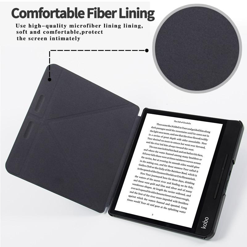 BOZHUORUI High Quality Case funda for 8 Inch Kobo Forma e-Books Multiangle folding Stand Support Cover Case With Auto Sleep/Wake