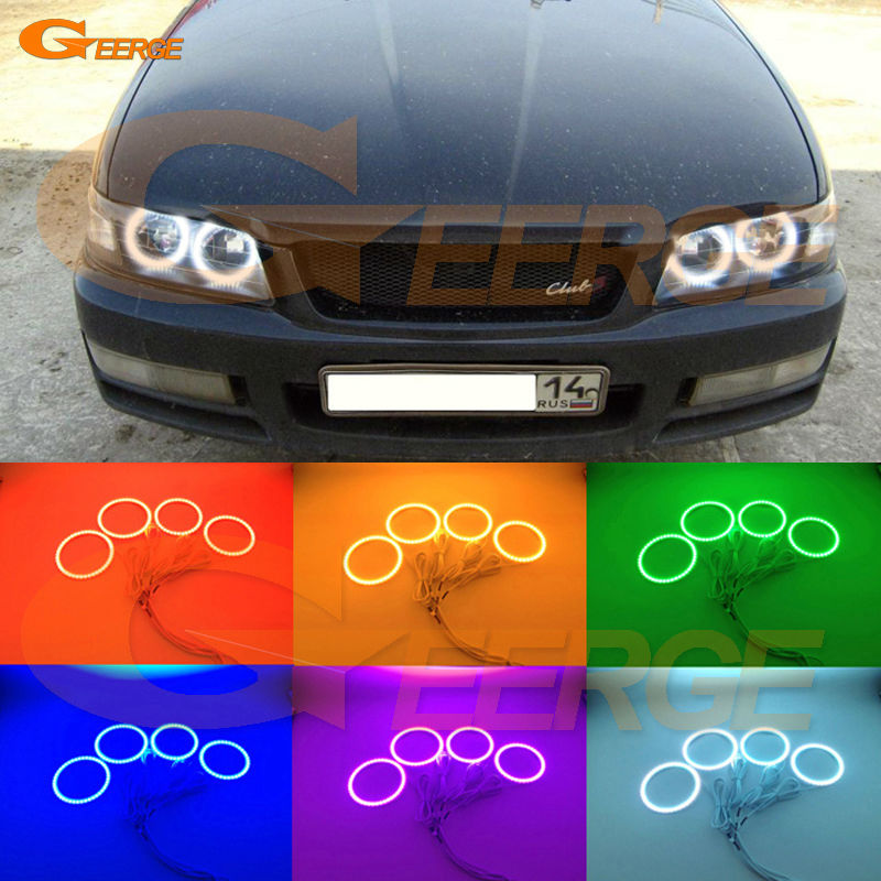 For Nissan Laurel Club S C35 1997 1998 1999 2000 2001 2002 Excellent Multi-Color Ultra bright RGB LED Angel Eyes kit Halo Rings for nissan laurel club s c35 1997 1998 1999 2000 2001 2002 excellent multi color ultra bright rgb led angel eyes kit halo rings