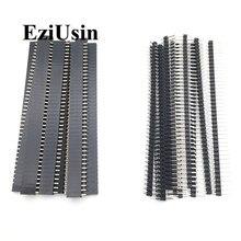 20 шт 10 пар 40 Pin 1x40 Однорядный мужской и женский 2,54 ломаемый контактный разъем PCB JST разъем полосы для Arduino черный