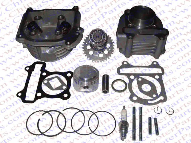 Performance <font><b>52MM</b></font> Cylinder <font><b>Piston</b></font> <font><b>Ring</b></font> Gasket Head Camshaft Kit GY6 50CC 120CC 88ML Jonway Baotian Sunny Keeway Scooter Parts image