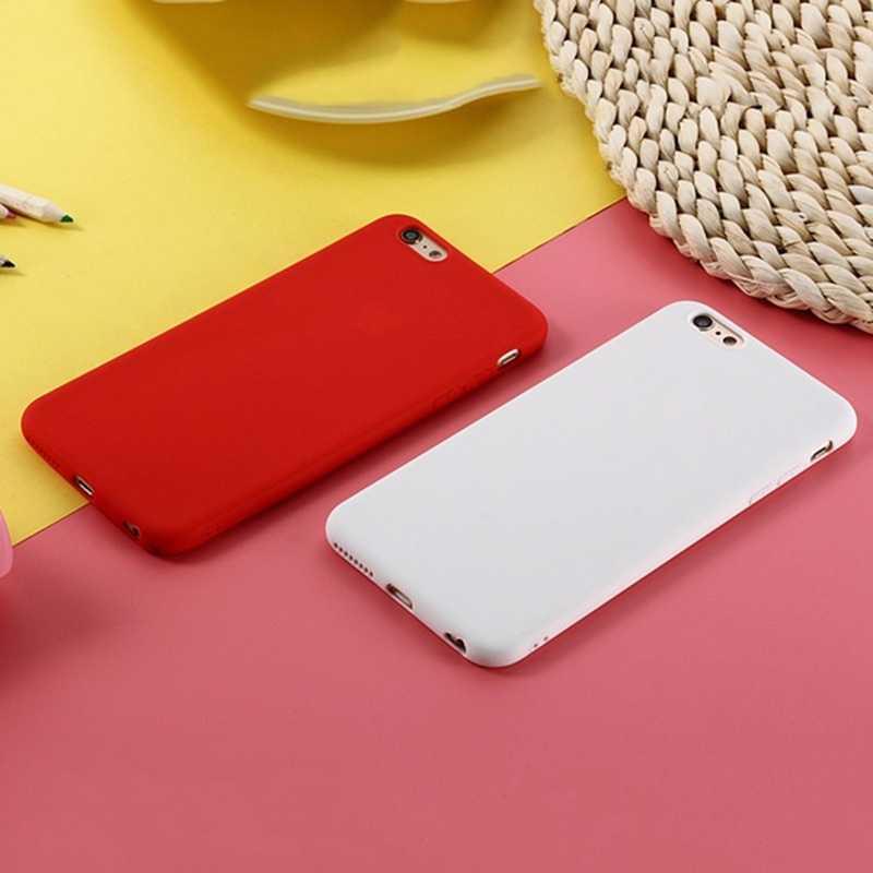 מט סוכריות חמוד כיסוי עבור iPhone 11 פרו מקסימום 7 8 6 S בתוספת Xs Max Xr X מקרה פשוט יוקרה מקורי רך סיליקון קאפה חזרה Coque