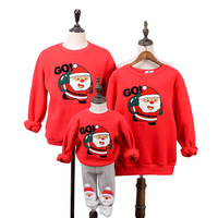 Family Clothing 2018 Winter Sweater Christmas Santa Claus Polar Fleece Warm Children Clothing Kid shirt Family Matching Outfits