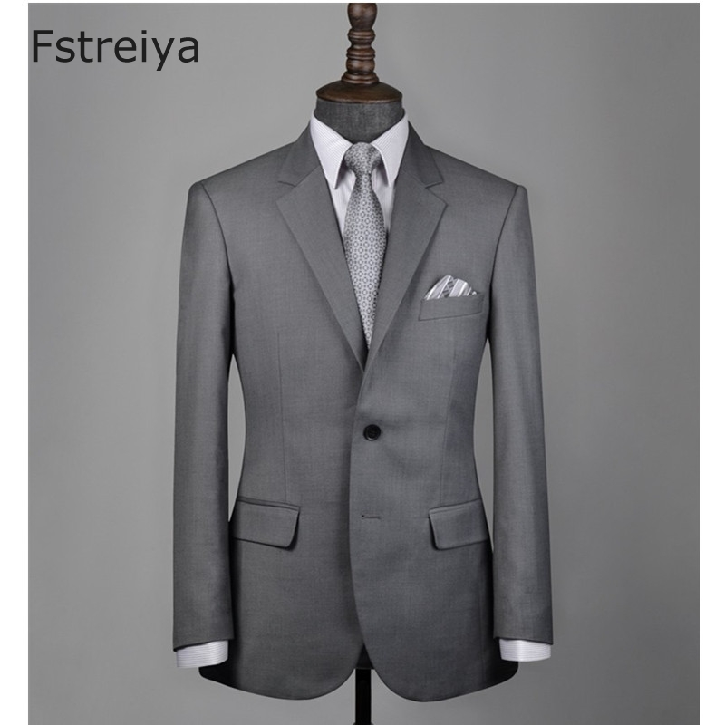 Pure wool customized men groom suits with pants Custom made mens clothing for wedding slim fit suits 2018 2 piece jakcet pants in Suits from Men 39 s Clothing