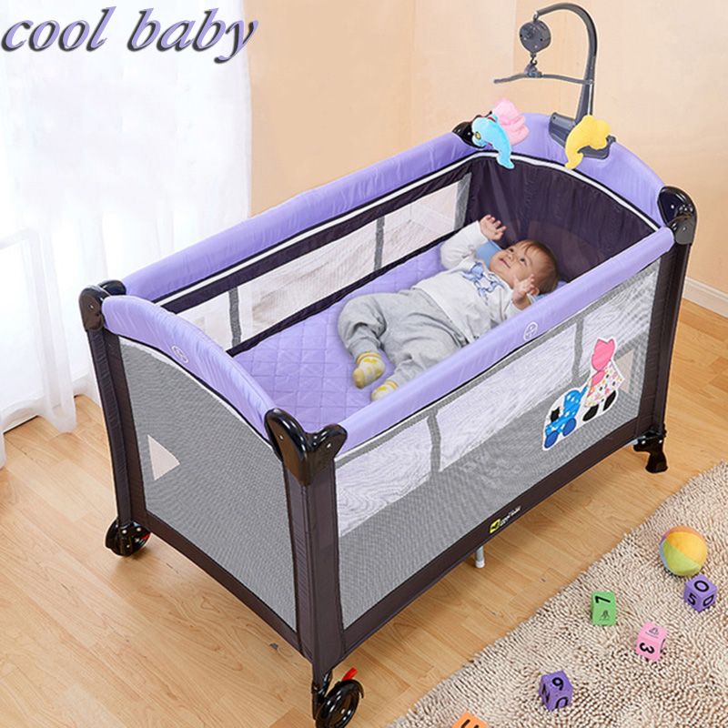 COOL BABY Multifunctional Folding Bed Portable Baby Cradle With Mosquito Net Baby Shaker car window curtains legal