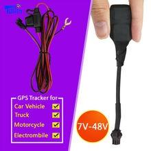 Topin CT1 CT1-b Мини реального GPS трекер GSM локатор для авто автомобиль мотоциклетные скутер грузовик Вход широкий Voltage7V 12 В 24 В 48 В