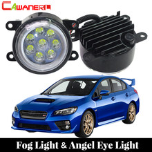 Cawanerl 2 X Car LED Fog Light Lamp DRL Angel Eye Daytime Running Light 12V Accessories For 2015 2016 Subaru WRX STI(China)