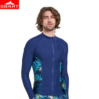 SBART Men Surfing Rash Guards Long Sleeve Swimsuits Tops Jacket Surfing Diving Swimwear UV Protection Swimming Shirt For Couples