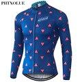Phtxolue майки для велоспорта зимние теплые флисовые Pro Mtb с длинным рукавом мужская одежда для велоспорта Maillot QY056