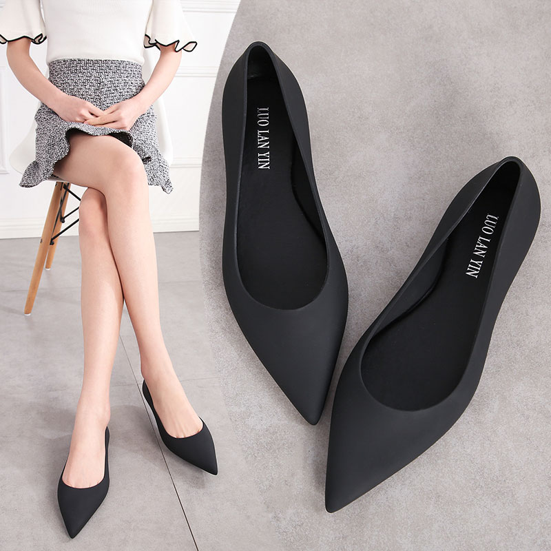 EOEODOIT 2019 Summer Jelly Shoes Beach Sand Soft Brief Sandals Flat Heel Pointy Toe Slip On Women Spring Flats Rain Shoes EOEODOIT 2019 Summer Jelly Shoes Beach Sand Soft Brief Sandals Flat Heel Pointy Toe Slip On Women Spring Flats Rain Shoes