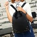 Моды для женщин, нейлон водонепроницаемый студент школьные сумки подросток повседневная книга рюкзак Mochila para mujer леди симпатичные заклепки рюкзак