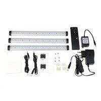 2 шт. движения Сенсор 24 светодиодный свет гардероб шкафа ночь света теплый белый PC Материал с Черный пульт дистанционного управления
