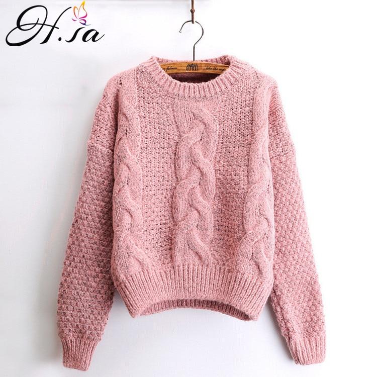 H.SA O-neck Twisted Women Sweater HF899