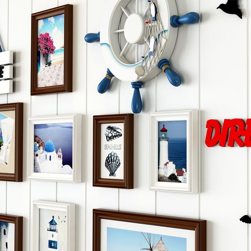 18 unids/set marcos de la foto de la pared para, Porta Retrato ...