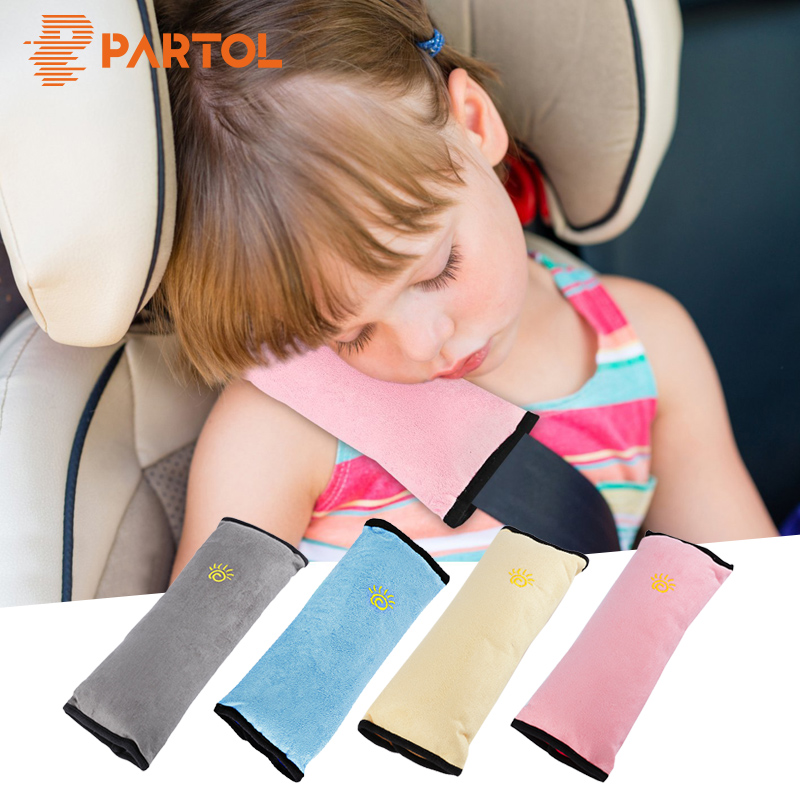Partol Auto Safety Seat Belt Cover Harness Shoulder Pad Cover For Children/Kids/Baby Travelling Shoulder Protection Pillow Blue цена