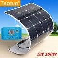 100 Вт 18 В Панели Солнечных Батарей Монокристаллического Кремния Солнечная Панель Power Generater + 10А Солнечное Зарядное Устройство Контроллер Для Автомобильного Аккумулятора самолет