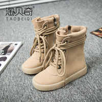 2018 Autumn new girls fashion boots for boys leather boots winter children's casual shoes girl boots kids high-top boots