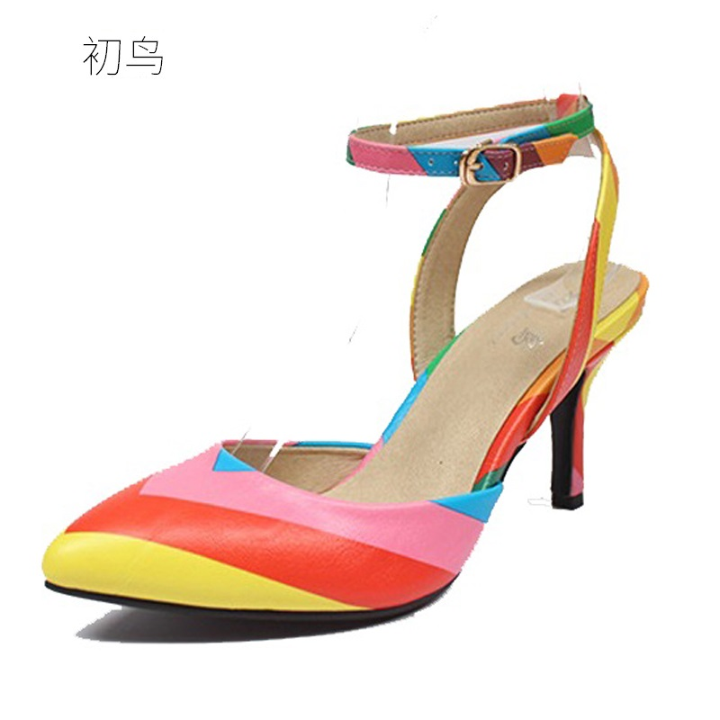 2018 Size 33-41 Fashion Multicolor Sexy Women Sandals High Heels Ladies Pumps Shoes Woman Summer Style Chaussure Femme 34 40 2017 small size 31 43 fashion simple sexy high heels women pumps ladies office shoes woman chaussure femme talon mariage 32 33
