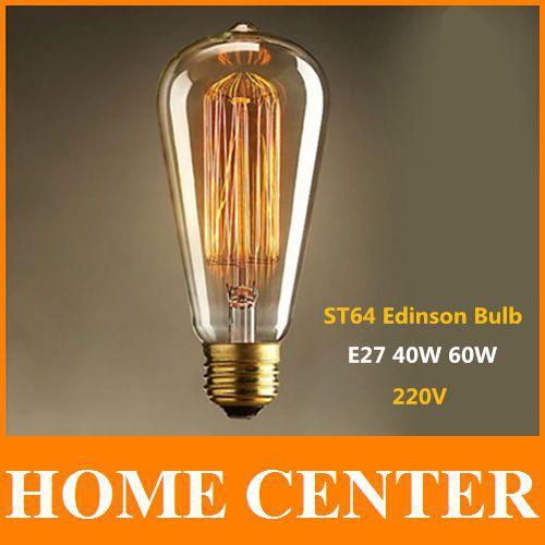 Lightinbox ST64 Antique Retro Vintage E27 40W 60W 220V Edison Light Bulb Incandescent Light Squirrel-cage Led Filament Bulb