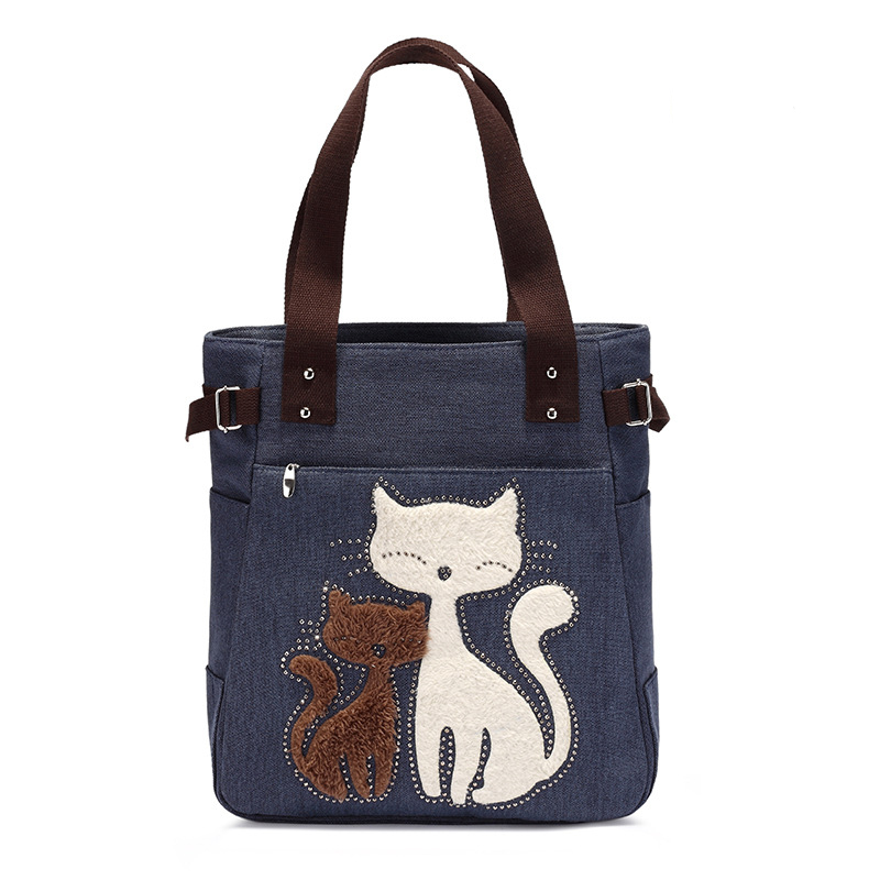bonito apliques bolsas portáteis Tipo de Estampa : Animal