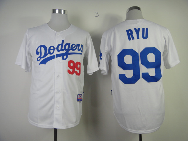 Men s Baseball Jersey Los Angeles Dodgers 99 Hyun-Jin Ryu Embroidery Logos  la dodgers Jerseys  Shirt Black Gray Blue M-3XL 4635 d6c7d185e20