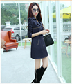 Free Shipping The New Spring 2015 Women's Clothing Brand Ladies Fashion High-Grade 3 Kinds Of color in The Ms Long Trench Coat