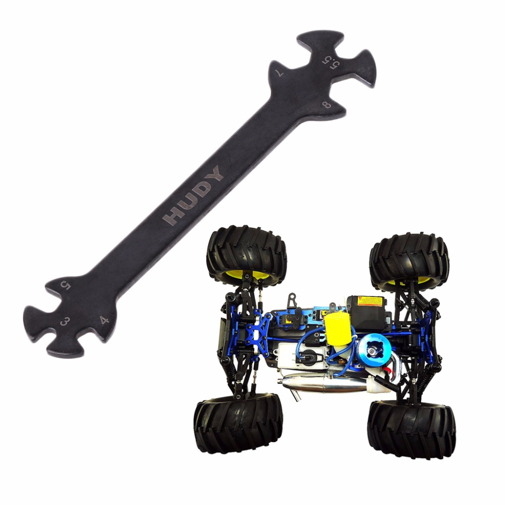 RC Car Measuring tool Ruler /& 3//4//5//5.5//7//8mm Wrench Adjuster tool