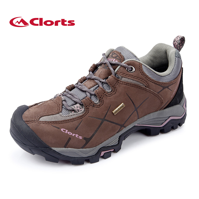 2016 Clorts Women Hiking Shoes HKL-805C Real Leather Non-slip Outdoor Trekking Shoes Waterproof Sport Sneakers clorts men trekking shoes 2016 waterproof breathable outdoor shoes non slip hiking boots sport sneakers 3d028