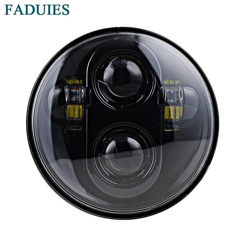 FADUIES 5.75 Inch Motos Headlight Bulb 5 3/4 High Low Beam H4 LED Headlamp Driving Lights For Harley Motorcycle Lights