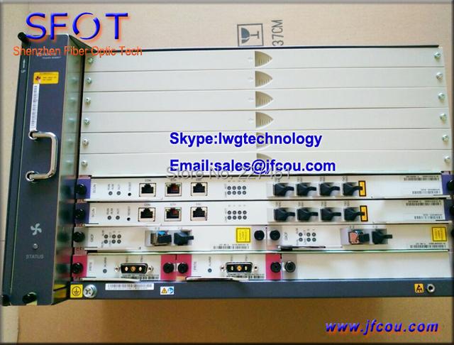 Original SmartAX MA5683T GPON ou EPON OLT Equipamentos, com um cartão GPBD ou EPBD PON, 8 módulos SFP Incluído.