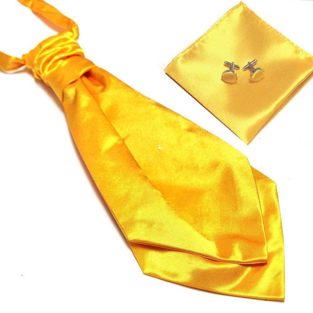 HOOYI 2018 new mens neck tie set Hanky cufflinks cravate ascot