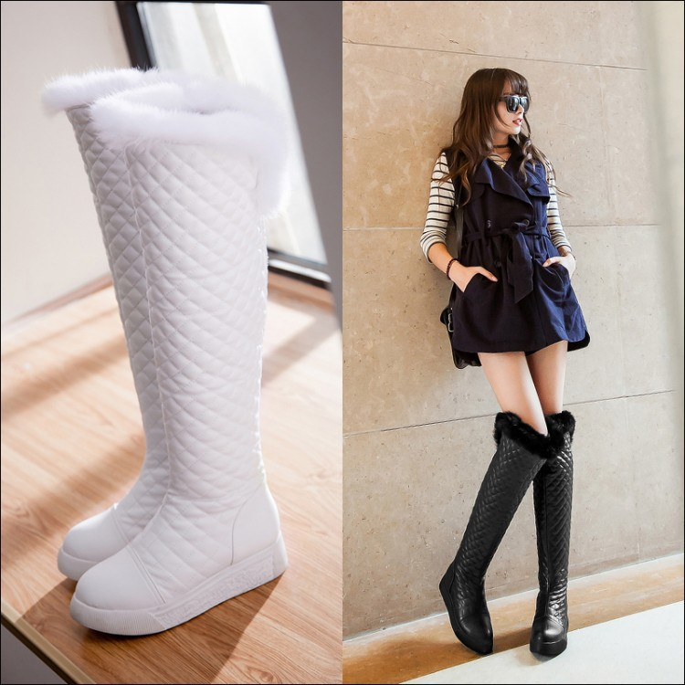 Woman Warm Fur Snow Boots Plush Over The Knee Promotion-Shop for ...