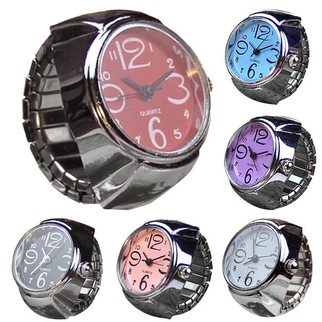 FR@ 2018 Dial Quartz Analog Watch Creative Steel Cool Elastic Quartz Finger Ring