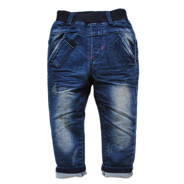 6200 ENVÍO LIBRE de los pantalones vaqueros de LOS bebés pantalones vaqueros primavera y otoño BOY & girls DENIM PANTS moda de nueva denim suave AGUJERO AZUL MARINO