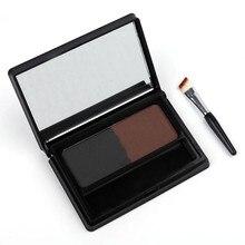 GRACEFUL Eyebrow Powder Palette Makeup Shading Kit + Brush Mirror ceja Free Shipping SEPT6