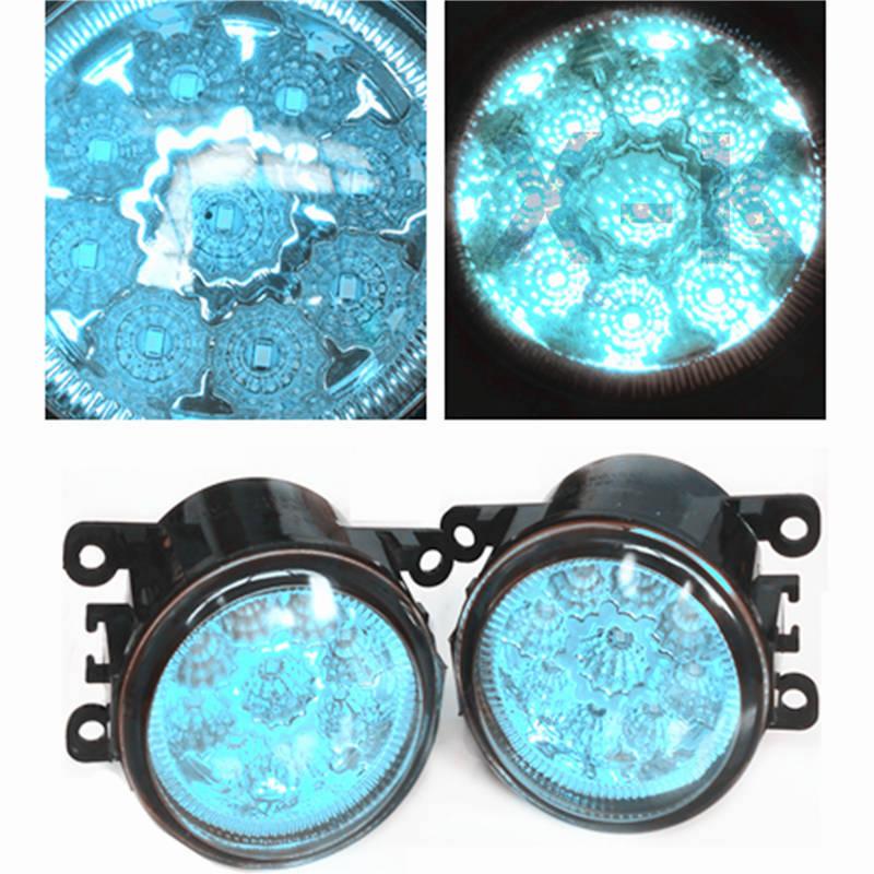 Car Styling Led Fog Lights  For DACIA Sandero Hatchback 2008-2015  12V  Modified Crystal Blue FOG LAMPS DRL Blue for lexus rx gyl1 ggl15 agl10 450h awd 350 awd 2008 2013 car styling led fog lights high brightness fog lamps 1set