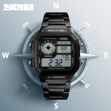 SKMEI Clock Mens Watches Top Brand Luxury Compass Countdown