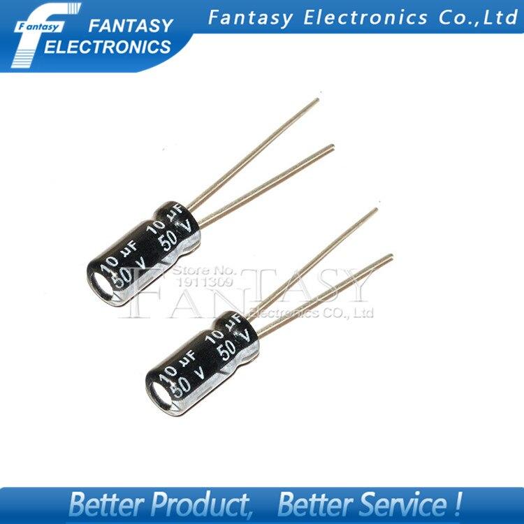 50 ШТ. Higt качества 50V10UF 5*7 мм 10 МКФ 50 В 5*7 Электролитический конденсатор